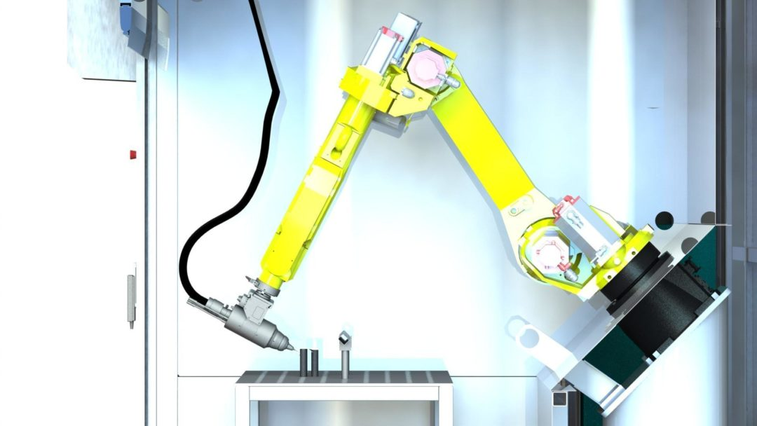 Robotization laser cutting