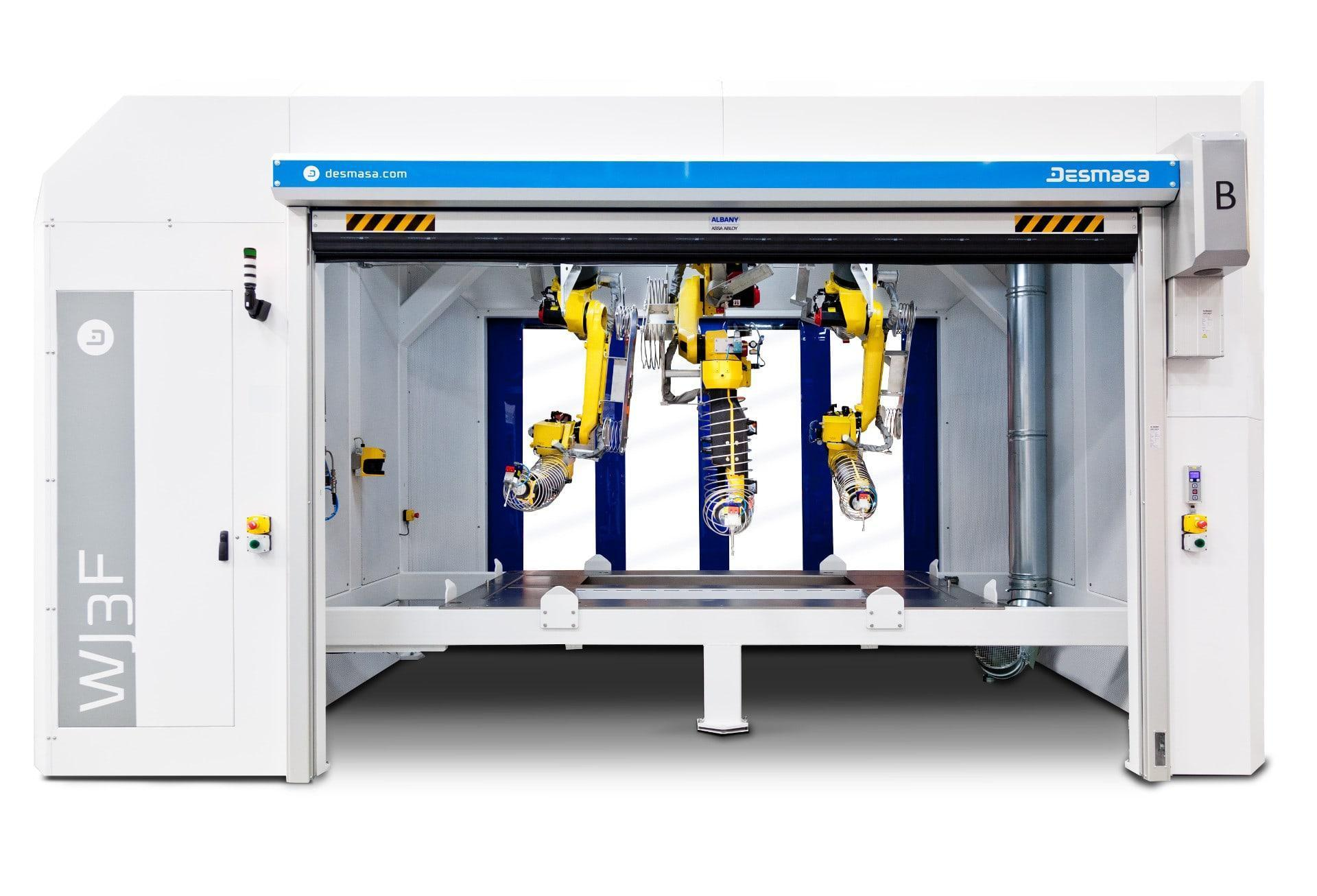 Frontal view of 3D robotized cutting station