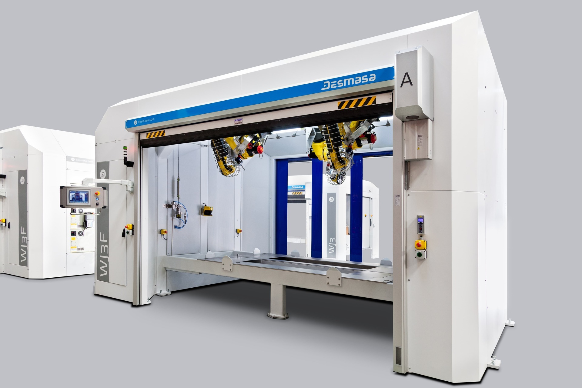 Waterjet station with ABB robot and vacuum system