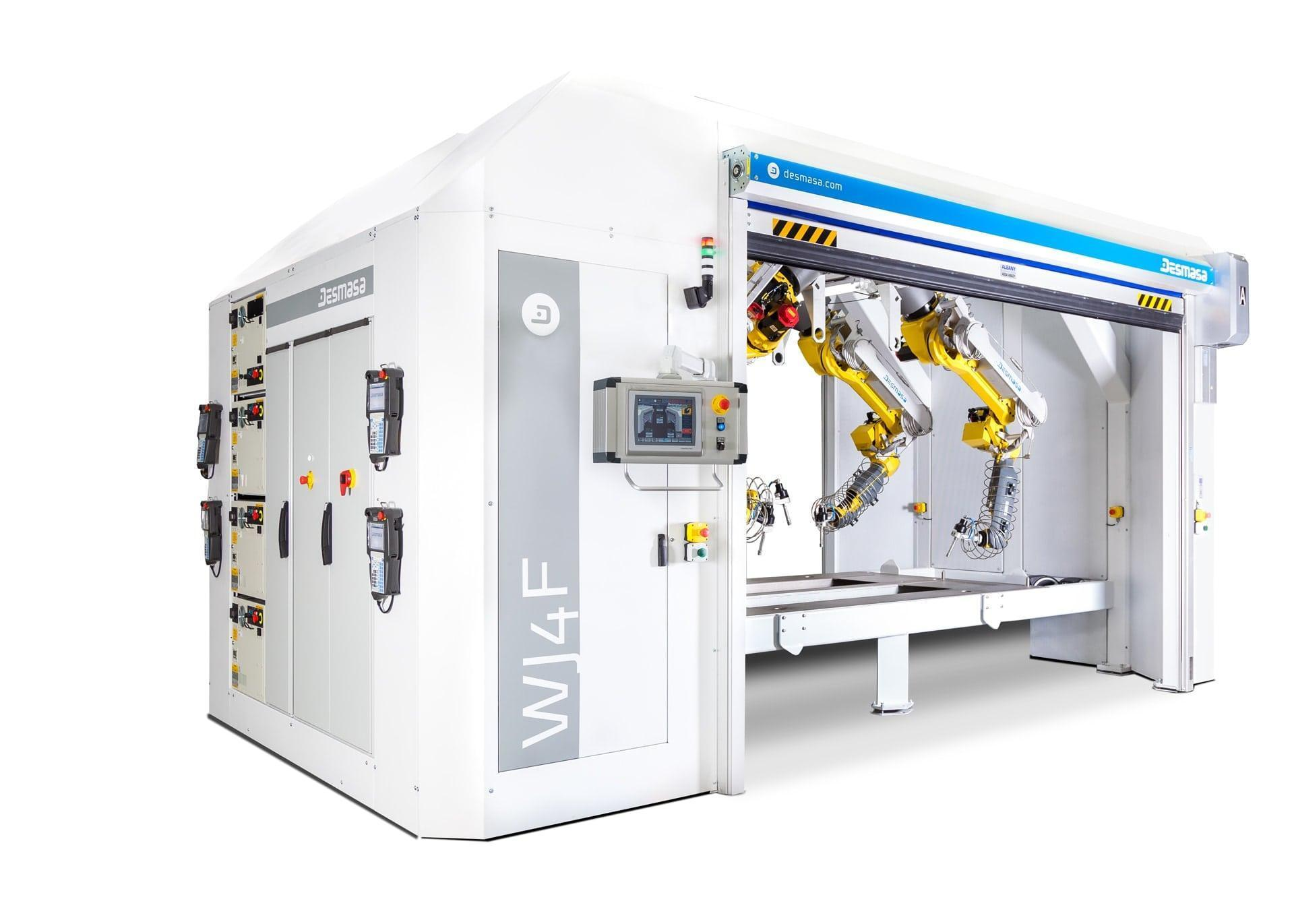 Control system of robotized waterjet cutting cell
