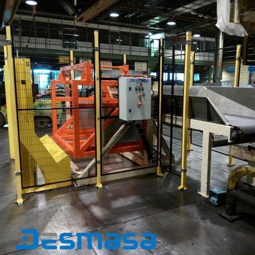 Automatización de descarga de producto