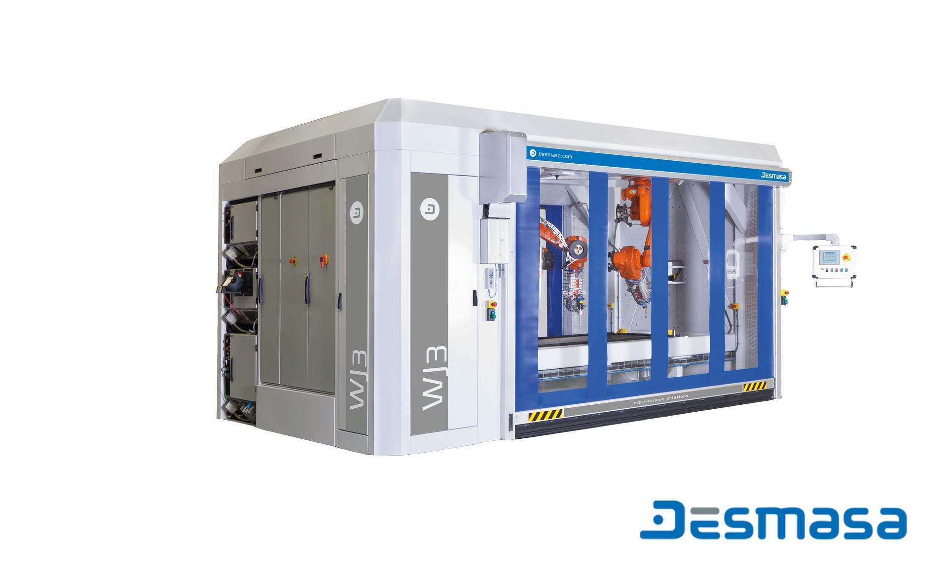 3D robot waterjet cutting cell