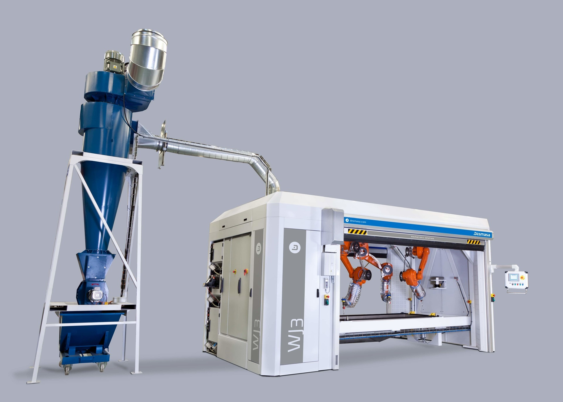 3D robotized waterjet cutting station with intensifier