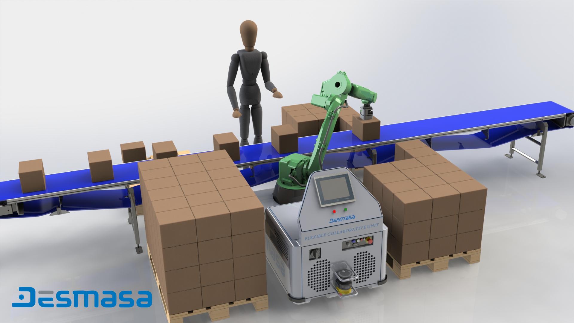 Célula de paletizado Robotización Industrial